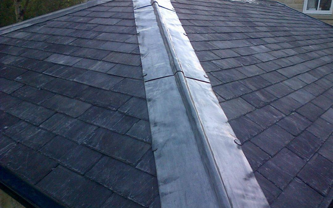 Reclaimed Welsh slate roofing