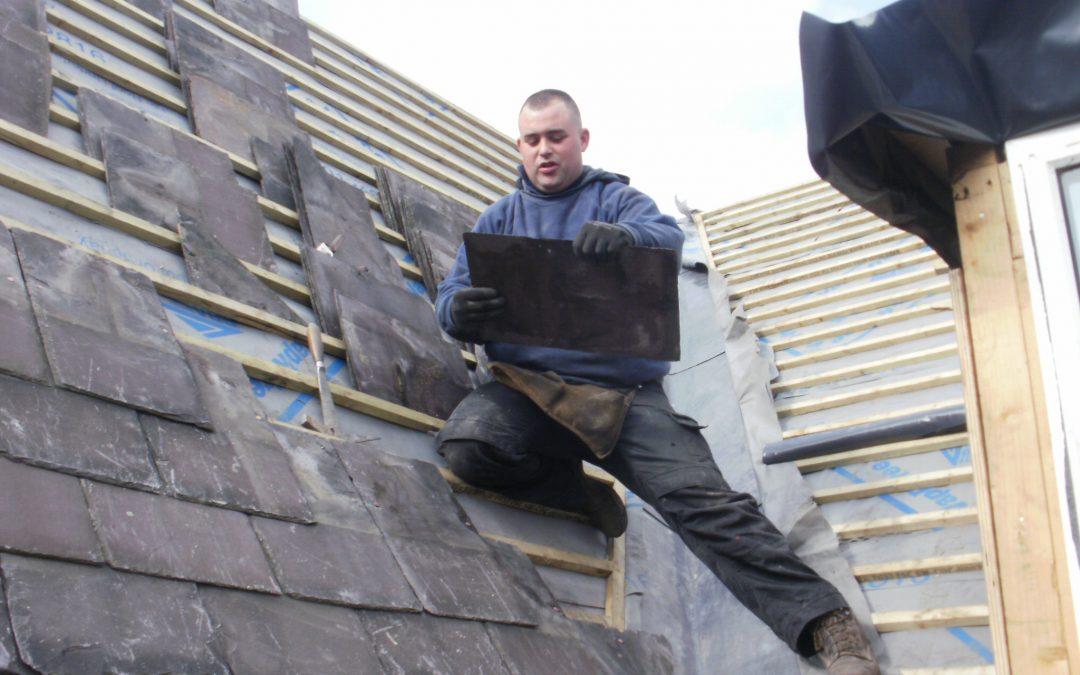 Welsh slate roofing