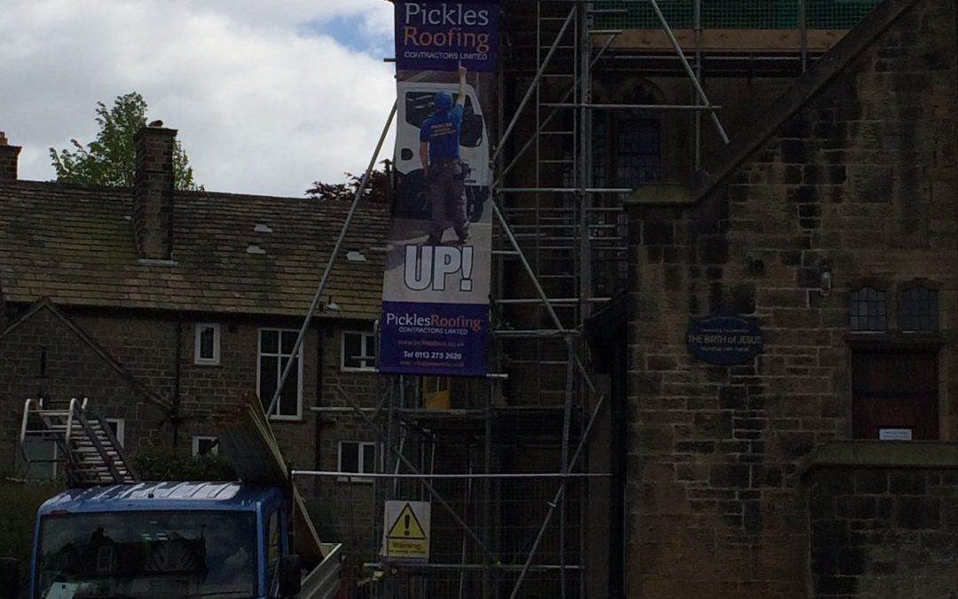 Scaffolding and Health & Safety in preparation for Church Re-roof