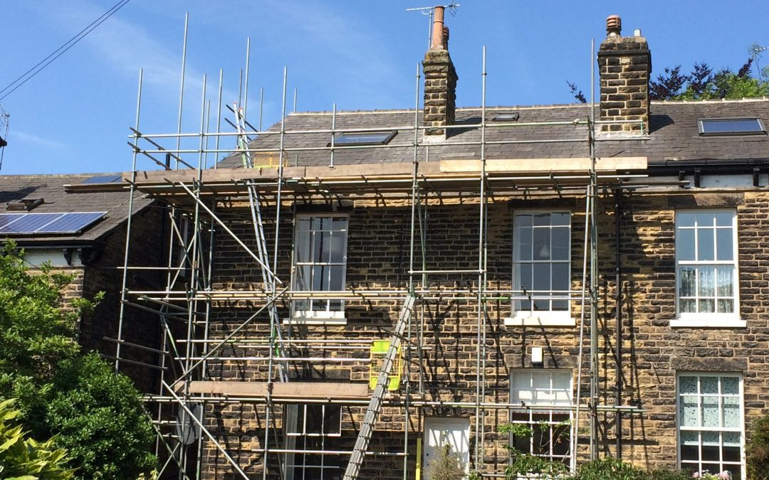 Large Victorian re-roof in Tonne slates